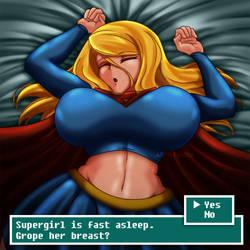 Sleeping Supergirl by FenRox