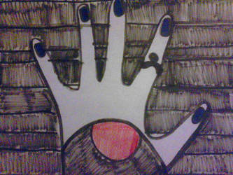 Raven's hand  by RaeRae120