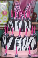 Zebra Cake Decorated by Zanowin