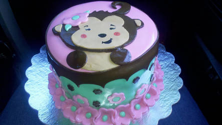 Baby Shower Monkey Cake by Zanowin