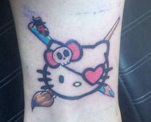 Hello Kitty Pirate tattoo by Zanowin