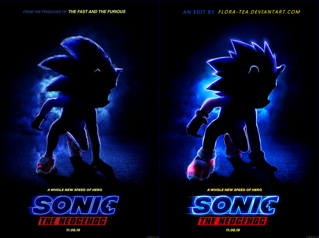 Movie Poster 2019: Sonic Movie Poster Redo By Fainalotea On DeviantArt