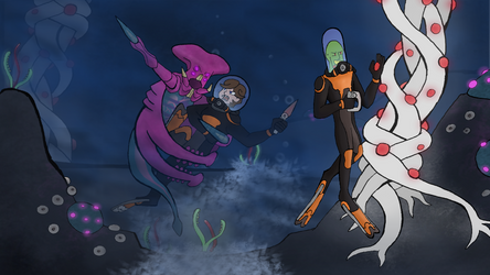 Raygun Readers Commission Subnautica Survey by Lion-Oh-Day