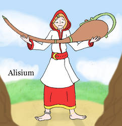 Alisium - Graceful Cleric by Lion-Oh-Day