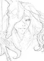 Deity -Sketch- by 100GRIM