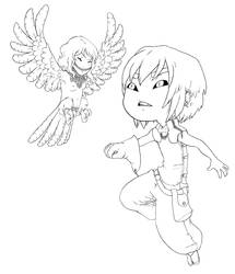 Happy Harpy by qeius