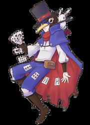 Prinny Magician man by qeius