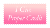 I Give Proper Credit Stamp by Wizard-Digi-Mage