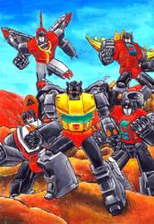 Transformers generation One Dinobots by grim1978