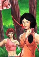 Warrior maidens by grim1978
