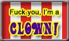 Clown Stamp 1 by DarkHorseArtie89