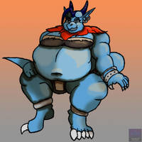 Commission: Tyra Weight Gain Part 2 by DarkHorseArtie89