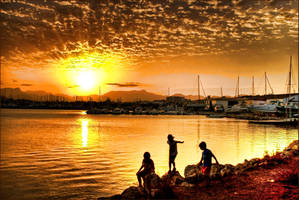 Alcudia Harbour Sunset by Bootcoot