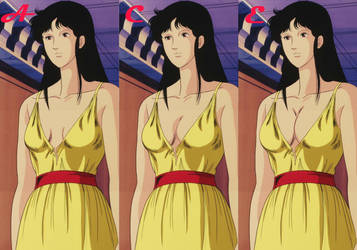 Different cup sizes of Hitomi Kisugi by shintaisou