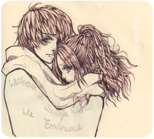 Without words let the embrace by KarolinaMixiao