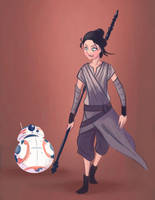Rey and BB8 by MattCarberry