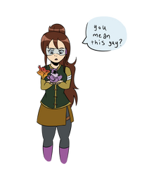 Alma and her leafium (I Spy prompt) by CripticShade