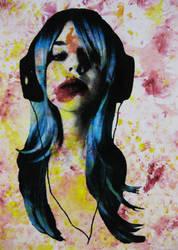 headphones joker tribute by TomSchmitt