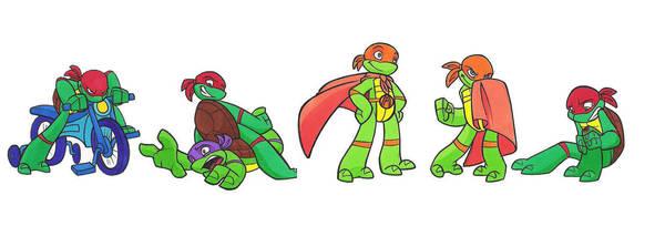 kiddy turtles by enolianslave