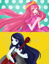 Princess Bubblegum X Marceline by lxoivaeh