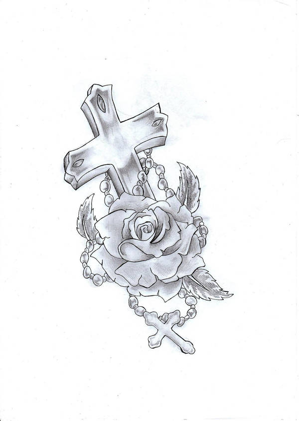 Cross Rose Tattoo By Ryice On Deviantart