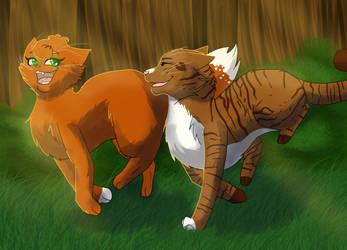 Squirrelflight and Leafpool by WarriorCat3042