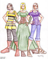 Anijel's NaNo Girls by erin-hime