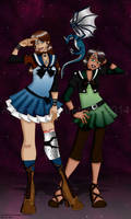 Sailors Coelus and Demeter by erin-hime