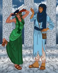 Duja and Tara by erin-hime