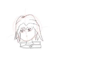 Yu Gi Oh GX - Zane Sketch by Sophiegirl2001