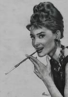Audrey Hepburn by rukkuss