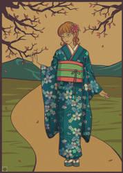 Blue Kimono by Villian-KucingKecil