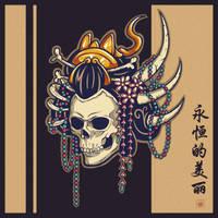 Geisha Skull - Eternal Beauty by Villian-KucingKecil
