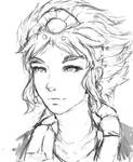 Taliyah Portrait Sketch WIP by JamesExcalibur