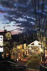 Tokyo Street by JamesExcalibur