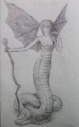Snake sketch by hkmun