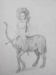 Centaur sketch by hkmun