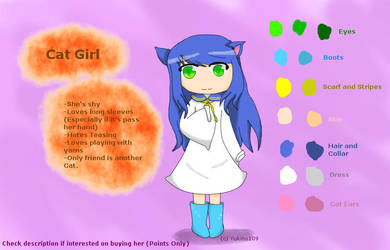 Cat Girl .:Adoptable Open:. by Yukino109