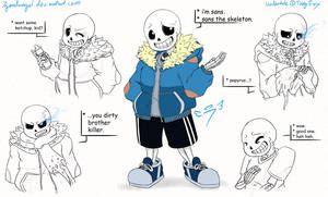 * sans the skeleton by 7goodangel
