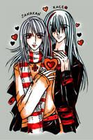 Sanakan+Kageo:Valentine Hearts by elentarihikari