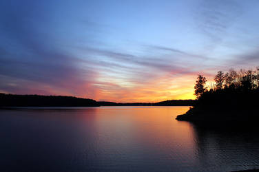 The Lake at Nightfall by Mistshadow2k4