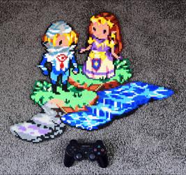 Sheik + Zelda by Aenea-Jones