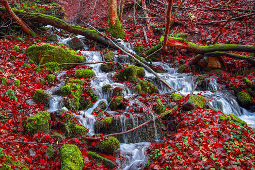 Bloodred Falls by Aenea-Jones