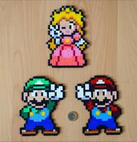Mario, Luigi + Peach by Aenea-Jones