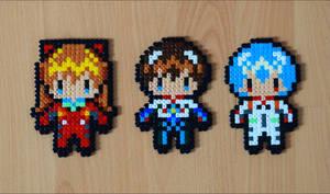 Chibi Evangelion Characters by Aenea-Jones
