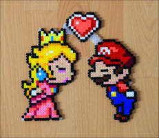 Mario + Peach by Aenea-Jones