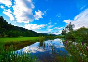Blue Sky Lake IV by Aenea-Jones