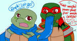 Happy New Year with AU TMNT Leo and Raph! (2015) by Miikage