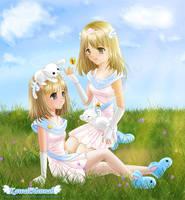 Gaia Twins by kawaiihannah
