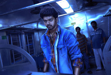 Retouch Coloring Design- ACTOR Vijay by PriyaCReationZ94